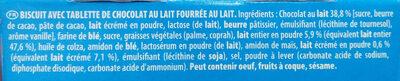 Petit écolier tendre coeur au lait - Ingredienti - fr