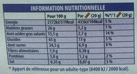 Petit écolier tendre coeur au lait - Valori nutrizionali - fr
