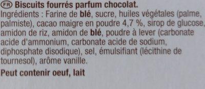 Goûters rem - Ingrédients - fr