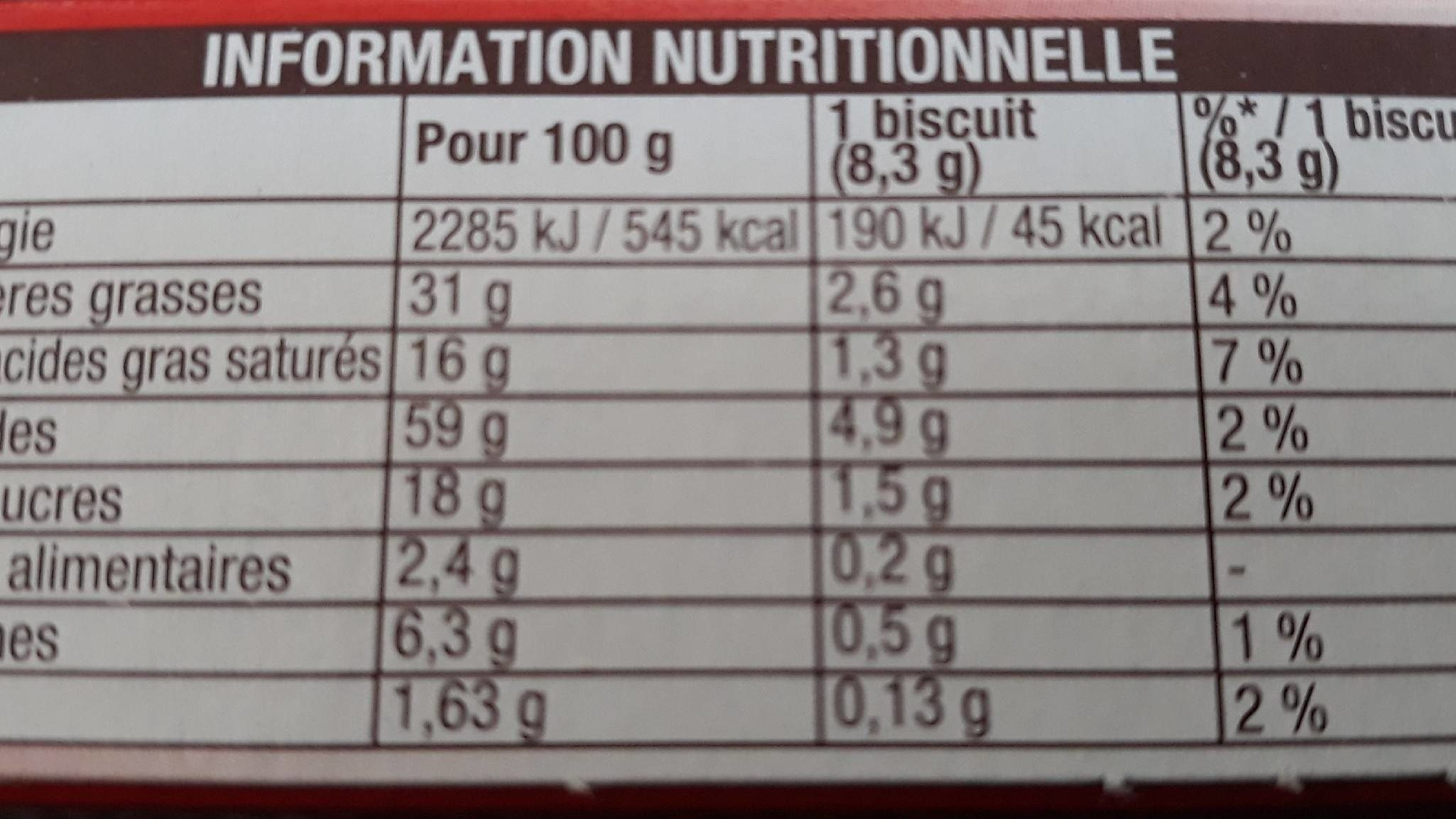 Palmito L'original - Nutrition facts