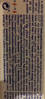 Lulu la barquette (Fraise) - Ingredients