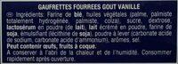 Gauffrettes - Ingredients - fr