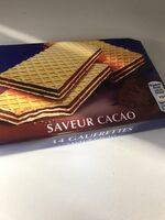 14 Gaufrettes saveur Cacao - Produit - fr