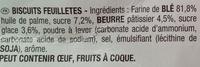 Feuilleté doré - Ingrediënten