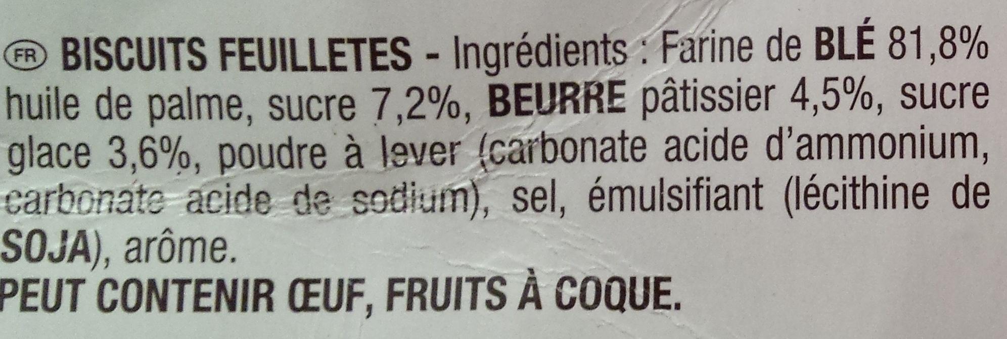 Feuilleté doré - Ingredients - fr