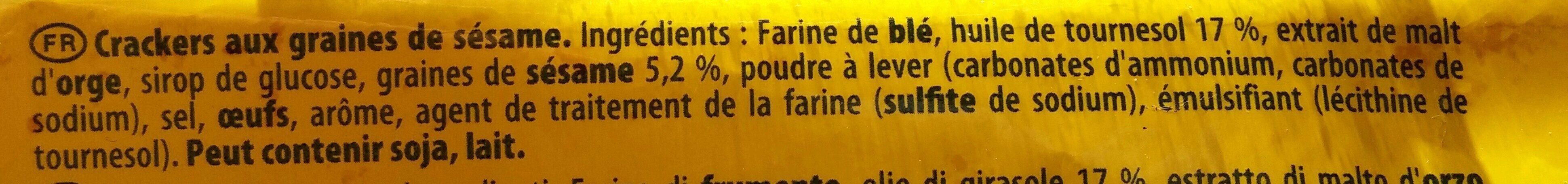 Tuc sésame - Ingredienti - fr