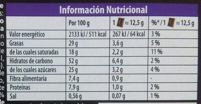 Petit Écolier Choco Pasión - Informations nutritionnelles - es
