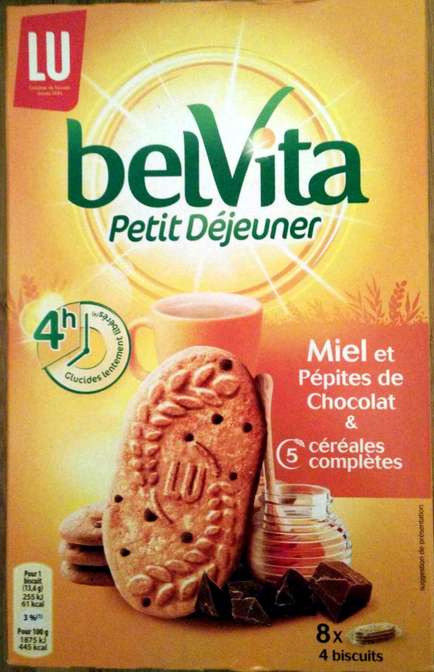 BelVita - Petit Déjeuner - Miel et Pépites de Chocolat - Produit - fr