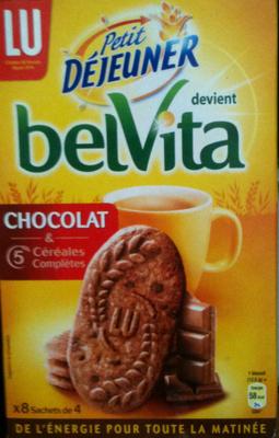 Belvita - Petit Déjeuner - Chocolat & 5 Céréales Complètes - Produit