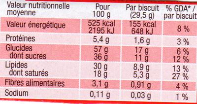 Pépito pockitos chocolat noir - Informations nutritionnelles - fr