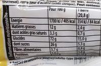 Barre de Céréales Pomme - Informations nutritionnelles