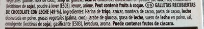 Mikado chocolat au lait - Ingredientes - es