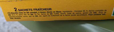 Biscotte Fibres+ - Ingredients - fr