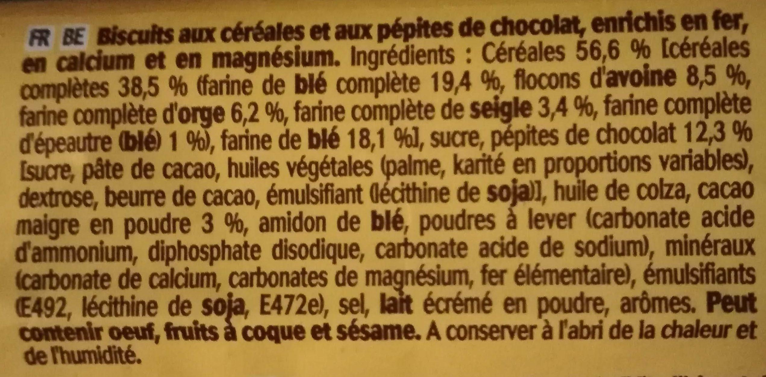 Petit déjeuner pépites chocolat - Ingrediënten