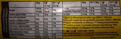 Petit déjeuner pépites chocolat - Voedingswaarden