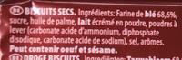 Petit Beukelaer - Ingrediënten