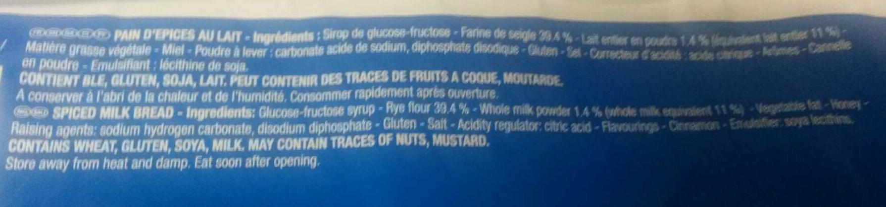 Prosper au lait - Ingrédients - fr