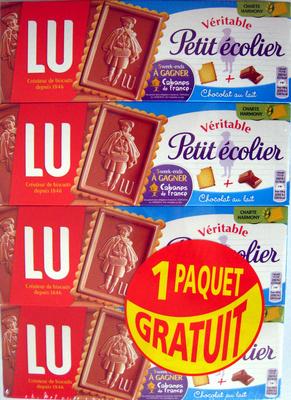 Véritable Petit écolier Chocolat au lait (lot de 4 x 150 g) LU - Produit - fr