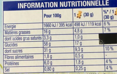 L'oursons Chocolat Lu 3X150G Prix Choc - Nutrition facts