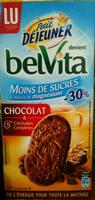 Belvita Petit Déjeuner Chocolat & 5 Céréales Complètes, allégé en sucres - Product