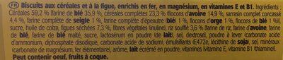 Belvita figues et multicereales - Ingrédients