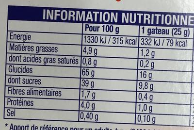 Miniroulés l'Original aux Fraises - Nutrition facts