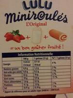 Miniroulés l'Original aux Fraises - Informations nutritionnelles - fr