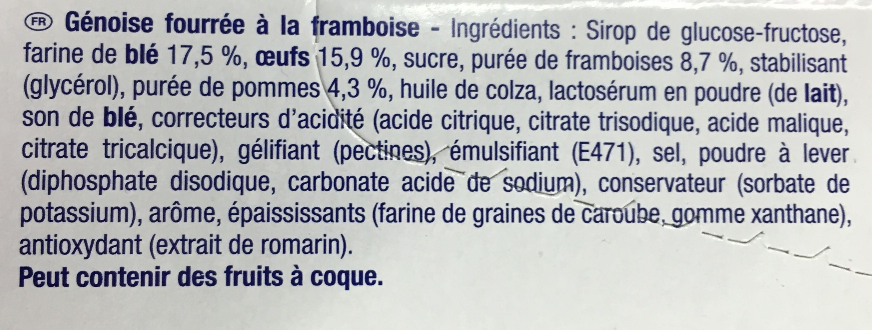 Miniroulés aux Framboises - Ingrédients - fr