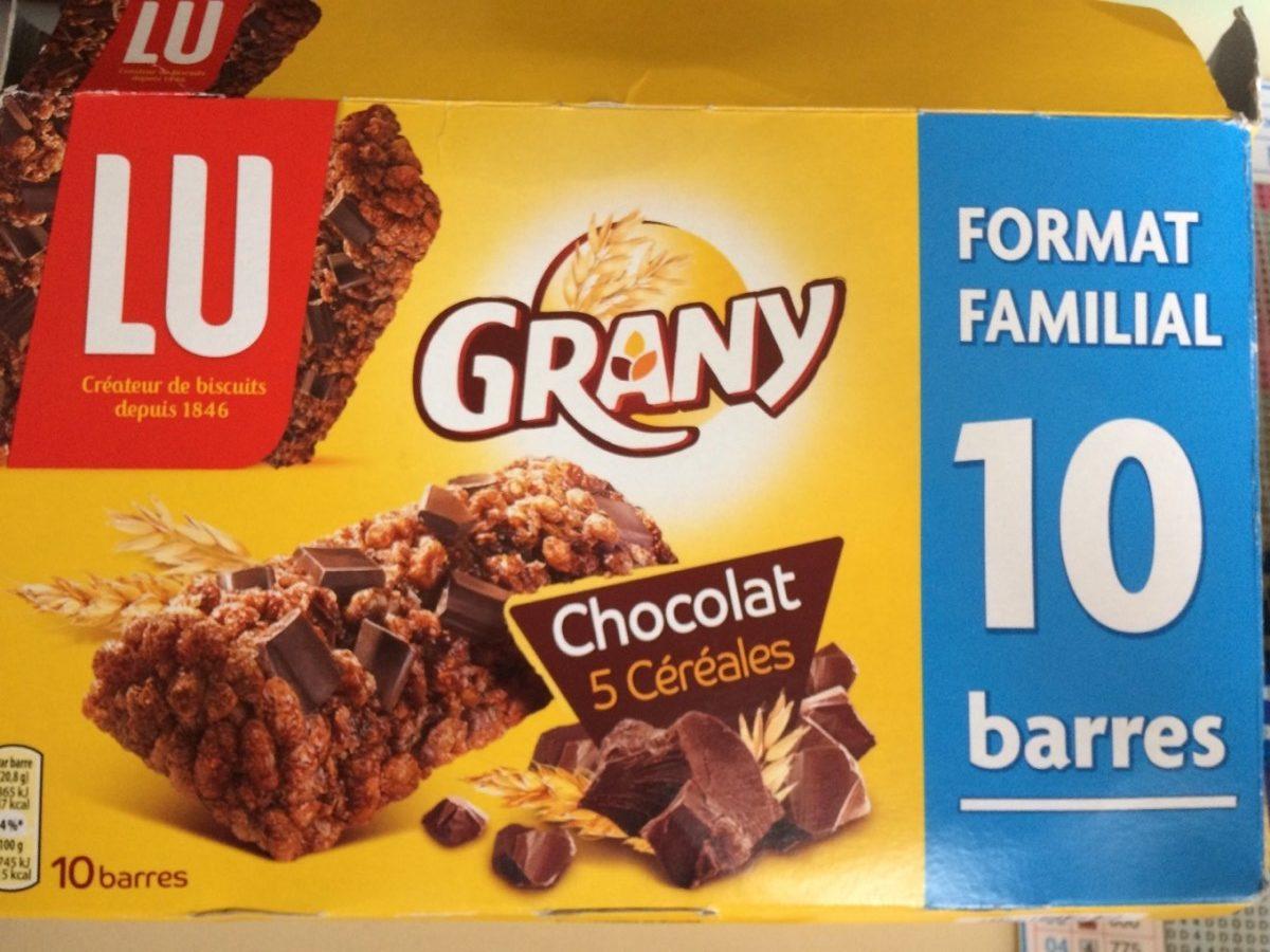 Grany Chocolat 5 Céréales - Produit - fr
