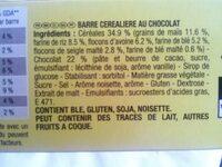 Grany Chocolat 5 Céréales - Ingrédients - fr