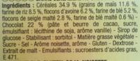 Grany Chocolat 5 Céréales - Ingredients
