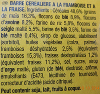 Grany Fraise & Framboises - Ingrédients - fr