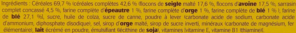 Belvita - Petit Déjeuner - Brut 5 & Céréales Complètes - Ingrediënten - fr