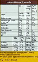 Belvita - Petit Déjeuner - Brut 5 & Céréales Complètes - Voedingswaarden - fr