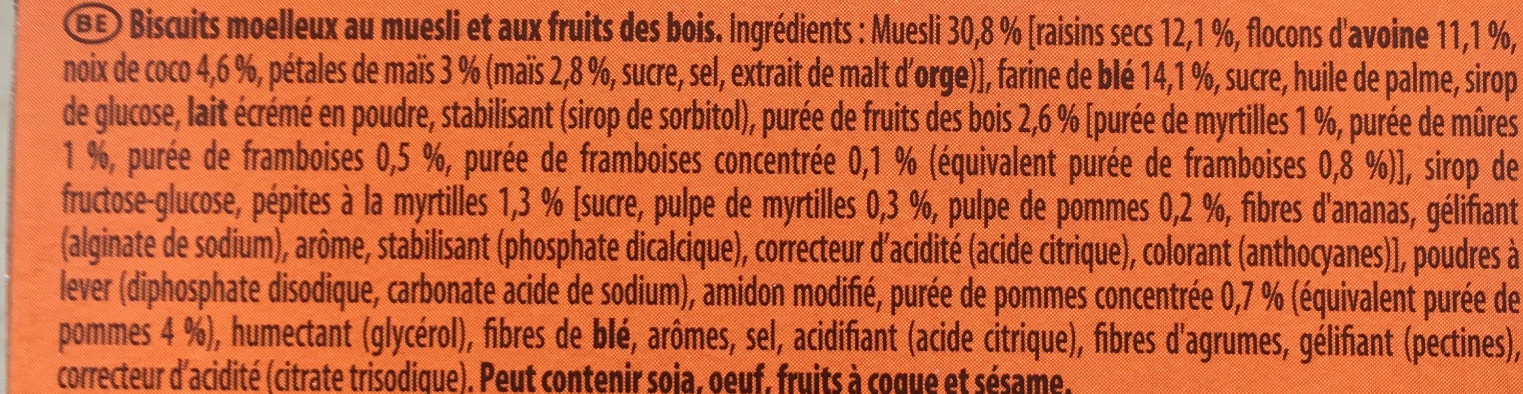 Moelleux Fruits des Bois - Ingrediënten - fr