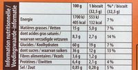 Moelleux Fruits des Bois - Voedingswaarden - fr