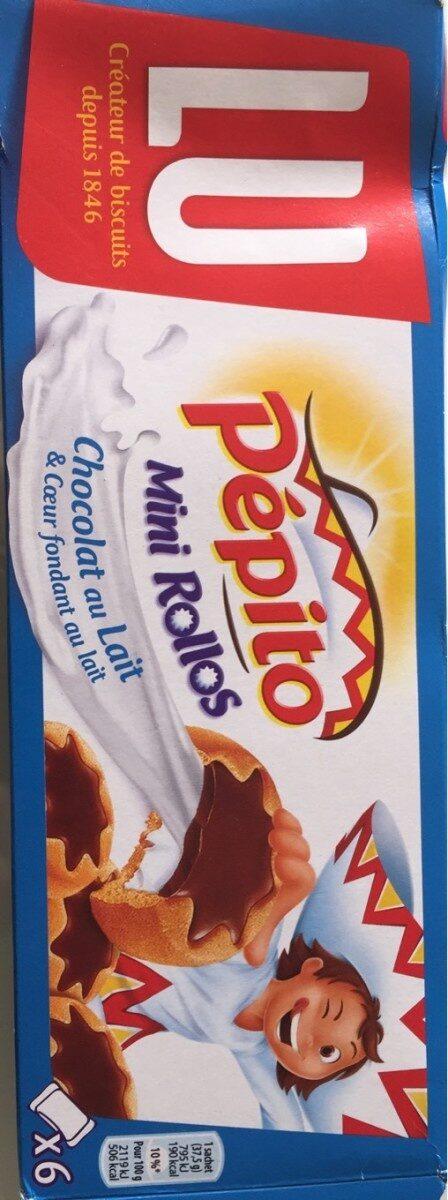 Pépito Mini Rollos Chocolat au Lait & Coeur fondant au Lait - Produit