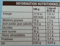 Pépito Mini Rollos Chocolat au Lait & Coeur fondant au Lait - Informations nutritionnelles