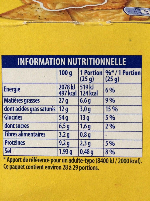 720G Assortiments Sales 4 Varietes Tradition Belin - Voedingswaarden - fr