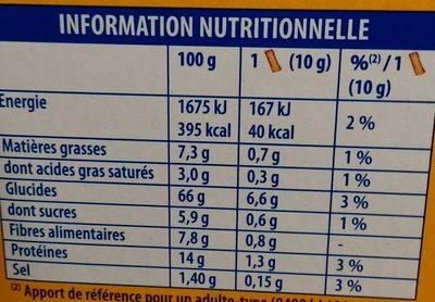 La Tartine Blé Complet - Nutrition facts - fr