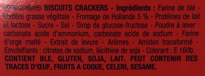 Monaco au fromage de Hollande - Ingredients