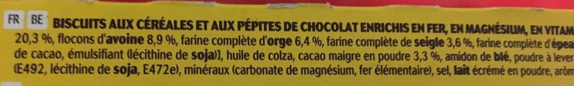 Belvita Petit Déjeuner Chocolat - Ingrediënten - fr