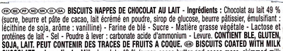 Mikado chocolat au lait - Ingredients - fr