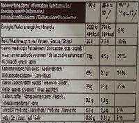Mikado chocolat au lait - Nutrition facts - fr