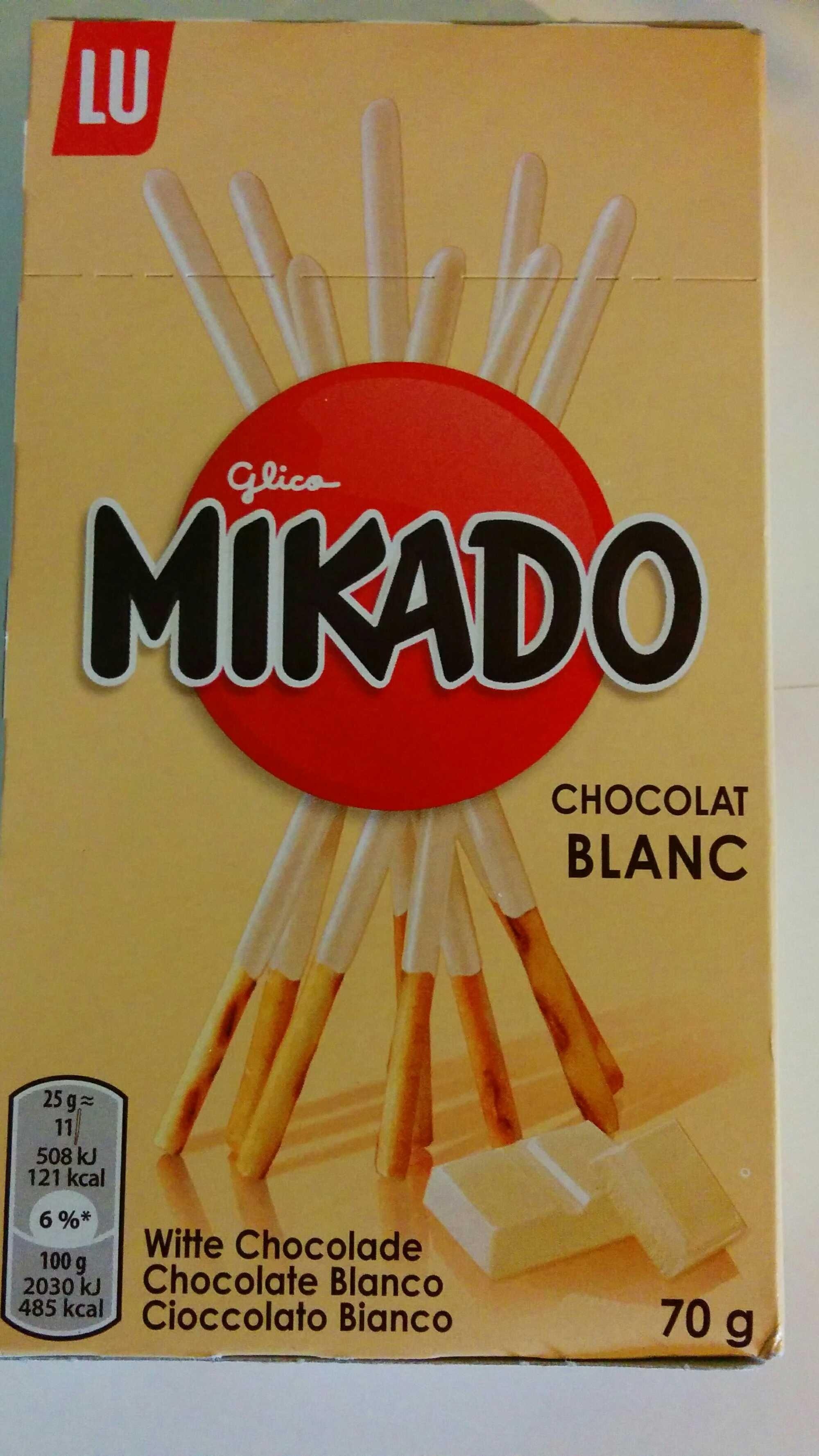 Mikado chocolat blanc - Produit - fr