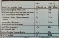 Mikado chocolat blanc - Informations nutritionnelles - fr