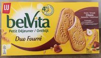 Belvita Petit Déjeuner Duo Fourré Chocolat Noisette - Product
