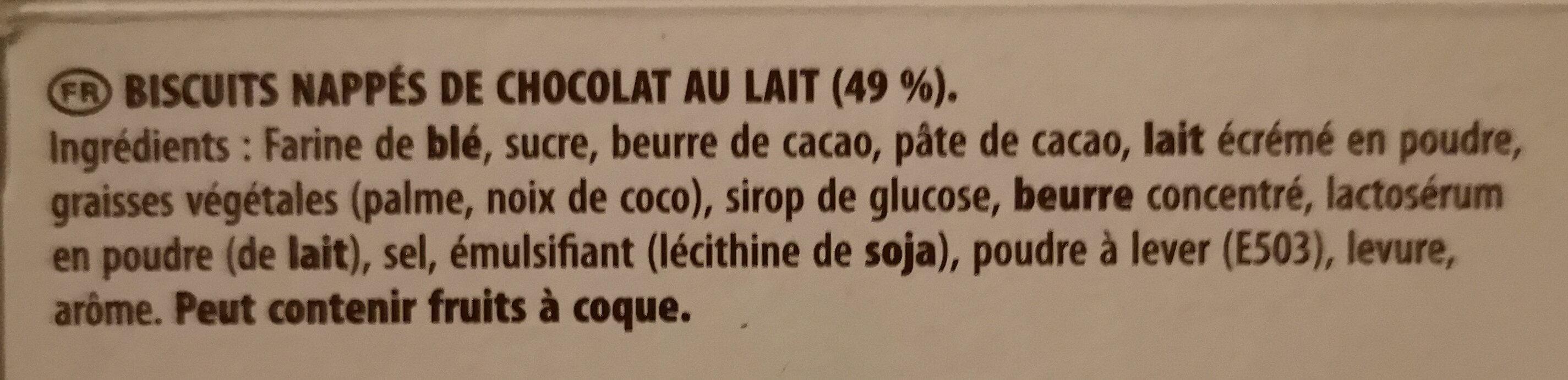 Mikado chocolat au lait - Ingredientes - fr