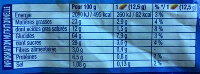 Granola Chocolat au Lait - Nutrition facts