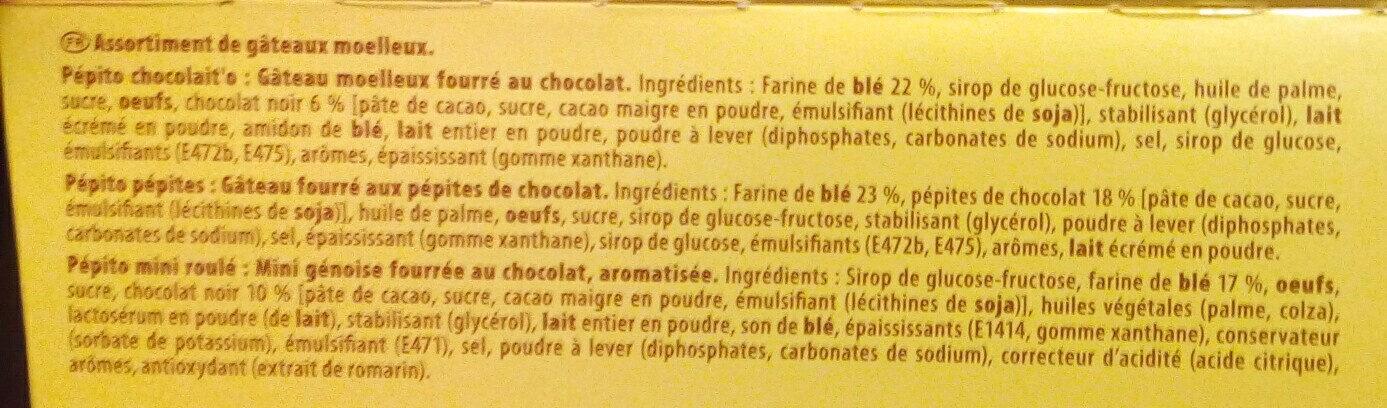Pépito la boîte à goûter - Ingredients - fr